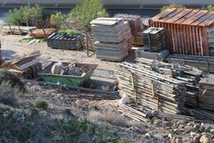 Warehouse for construction materials royalty free stock photography