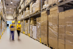 Warehouse control Royalty Free Stock Images