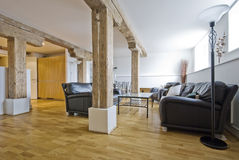 Warehouse conversion. A warehouse conversion of a flat to a contemporary apartment royalty free stock photography
