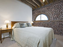 Warehouse conversion bedroom Stock Photography