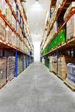 Warehouse corridor Royalty Free Stock Photo