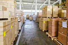 Warehouse corridor Royalty Free Stock Photos