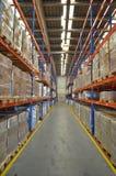 Warehouse corridor. Long view in a warehouse corridor Royalty Free Stock Image
