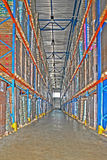 Warehouse corridor Stock Image