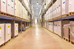 Warehouse corridor Royalty Free Stock Photography