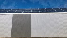 Warehouse covered by solar panels stock video
