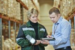 Warehouse crew at work Royalty Free Stock Photo