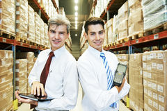 Warehouse crew at work Royalty Free Stock Photo