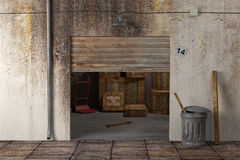 Warehouse 3d Stock Photography