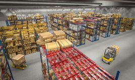 Warehouse 3d interior stock photography