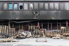 Warehouse damage Stock Image
