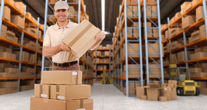 Warehouse delivery c Stock Photo