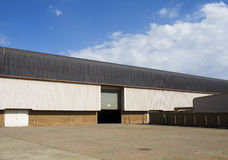 Warehouse delivery point. Exterior shot of storage or warehouse building Stock Images