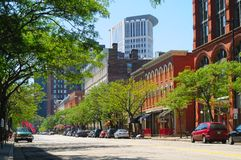 Warehouse District royalty free stock photography