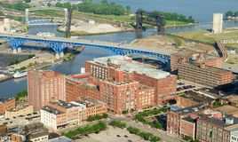 Warehouse District aerial Royalty Free Stock Photos