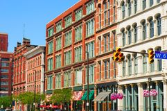Warehouse District exteriors Stock Images