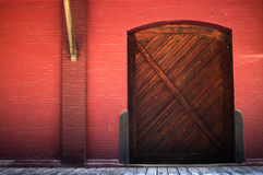 Warehouse and Dock. A warmly lit warehouse and dock Royalty Free Stock Image