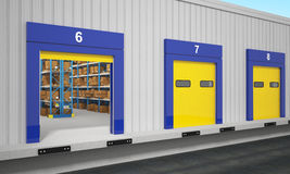 Warehouse dock station vector illustration