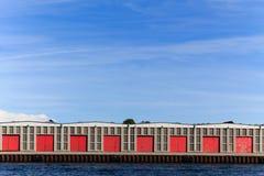 Warehouse at the docks Stock Photos