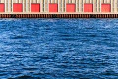 Warehouse at the docks Royalty Free Stock Image