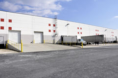 Warehouse docks royalty free stock photos