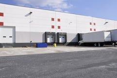 Warehouse docks stock image