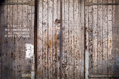 Warehouse Door Royalty Free Stock Photo