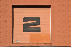 Warehouse Door Number 2 in St. Johns, near Portland, Oregon. This is Warehouse Door 2 in the St. Johns neighborhood of Portland, Oregon stock photo