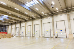 Warehouse doors or gates and cargo boxes Stock Photography