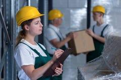 Warehouse employee Royalty Free Stock Photos