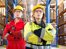 Warehouse employees Stock Photo