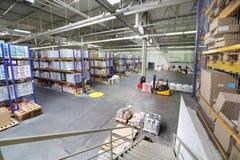 Warehouse en la fábrica de Caparol Fotografía de archivo libre de regalías