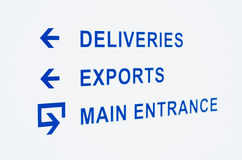 Warehouse entrance sign Royalty Free Stock Photo