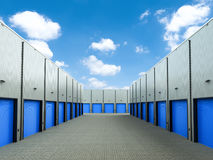 Warehouse exterior with doors closed Royalty Free Stock Photography