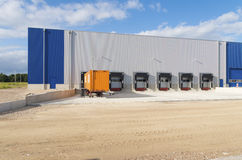 Warehouse exterior Royalty Free Stock Photos
