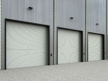 Warehouse exterior with shutter doors Stock Photography