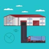 Warehouse exterior vector illustration Stock Photos