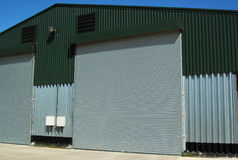 Warehouse Facilities. Entrance of agricultural warehouse building Royalty Free Stock Image
