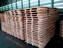 The stock of wood pallet royalty free stock photos