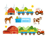 Warehouse, farmland, pets, conveying hay, wheat, natural products, eco-friendly activities. Royalty Free Stock Photography