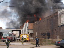 Warehouse fire Stock Photography