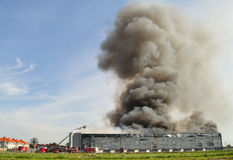 Warehouse fire Royalty Free Stock Images