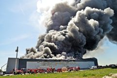 Warehouse fire Royalty Free Stock Image