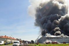 Warehouse fire Royalty Free Stock Photos