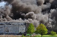 Warehouse fire Royalty Free Stock Photos