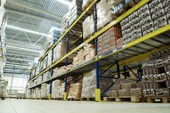 Warehouse food depot Royalty Free Stock Images