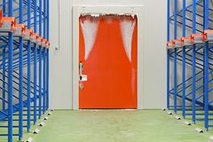 Warehouse freezer door Stock Images