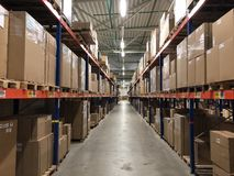 The warehouse Royalty Free Stock Photography