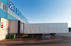 Warehouse gate and truck loading Stock Image