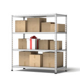 Warehouse with gift Royalty Free Stock Photo